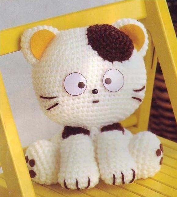 вязаного котенка амигуруми