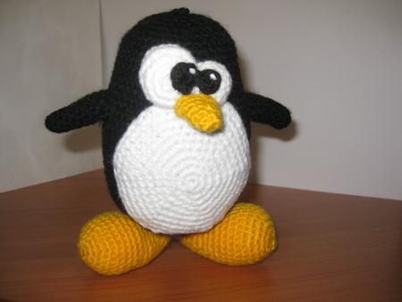 вязаный пингвин Tux игрушки амигуруми