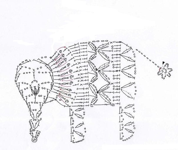 Схема вязания зверей крючком 71