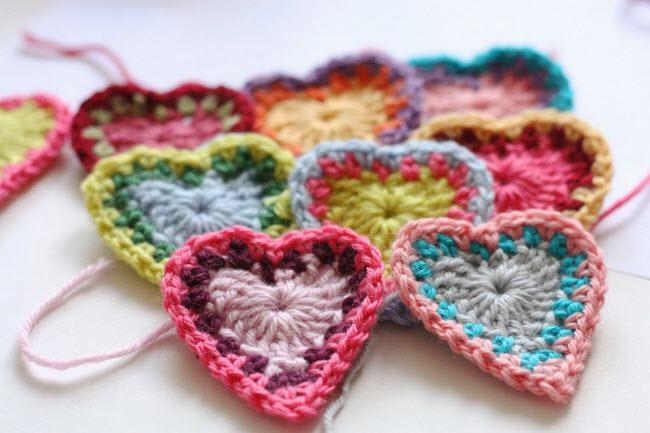 Вязаное крючком сердце — один