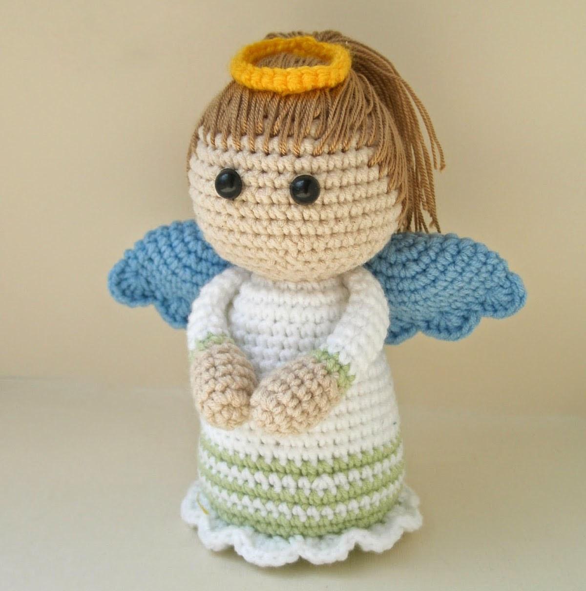Вязание крючком головы ангела