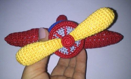 мастер класс по вязаному самолету