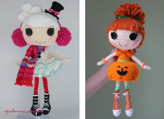 вязаная кукла лалалупси