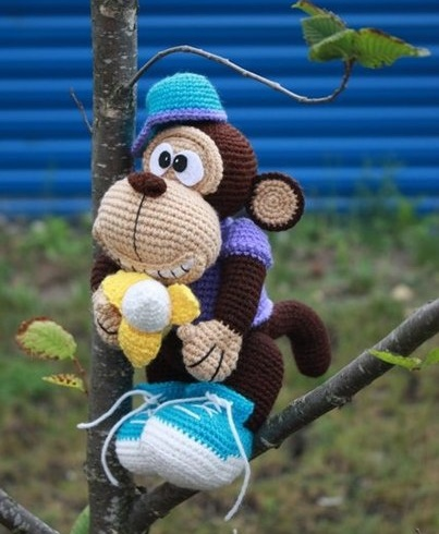 вязаная обезьяна амигуруми мастер-класс