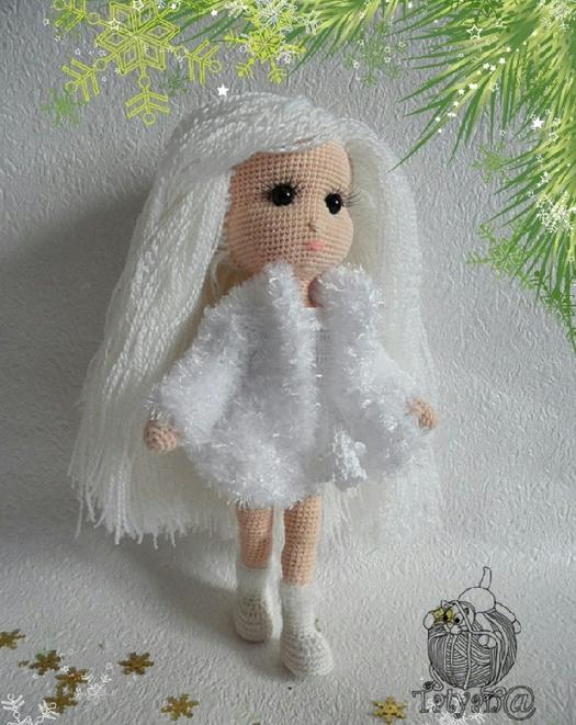 схема вязания куклы снегурочки крючком мк