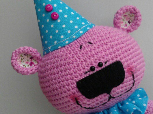 мишка поздравишка описание вязания игрушки крючком схема мк