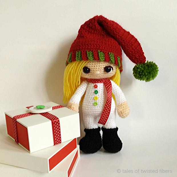 рождественский эльф кукла амигуруми схема вязания мк