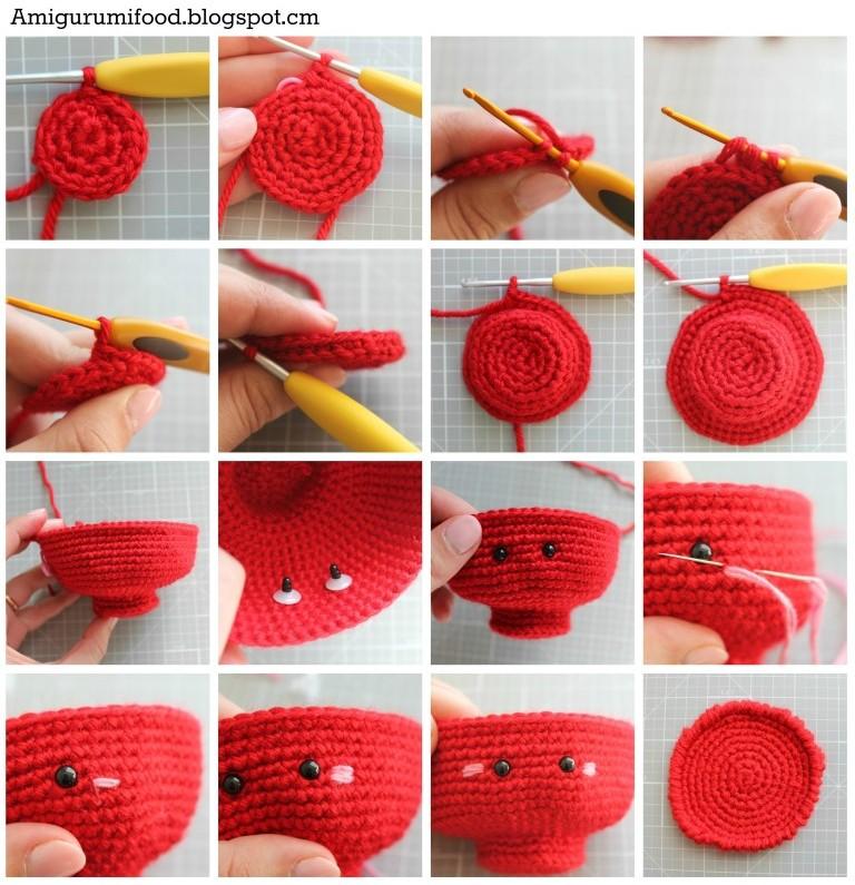 амигуруми схемы вязания еды крючком
