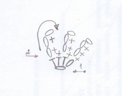 схема вязания ладошек енота амигуруми