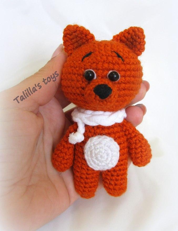 Амигуруми лисенок рикс вязаная игрушка – купить в интернет.