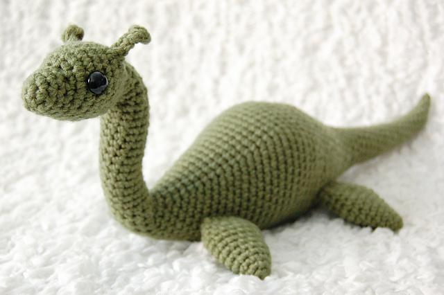 вязаная игрушка лохнесское чудовище крючком
