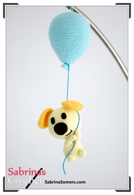 схема вязаной собачки на воздушном шарике