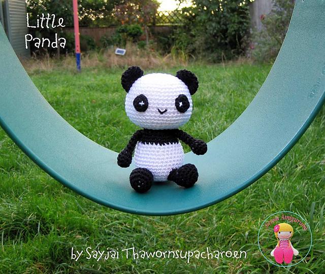 вязание крючком панда амигуруми описание
