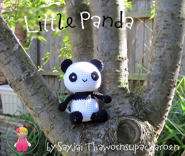 как связать панду амигуруми крючком схема
