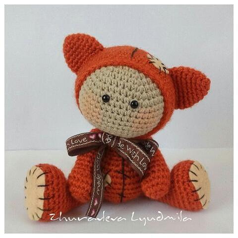 Милый лисёнок крючком / вязание игрушек / prohobby. Su | вязание.