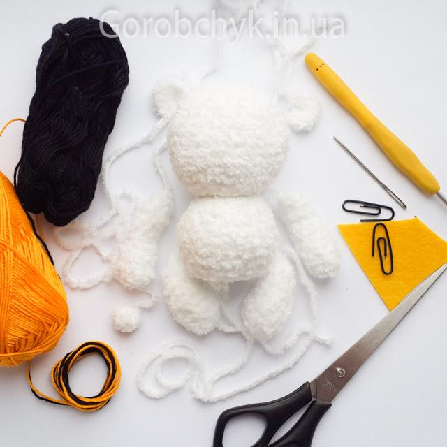 мишка крючком мастер класс схема описание