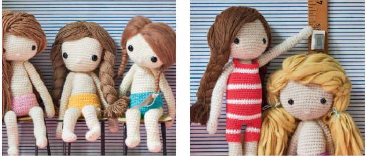 вяжем крючком одежду для кукол схемы