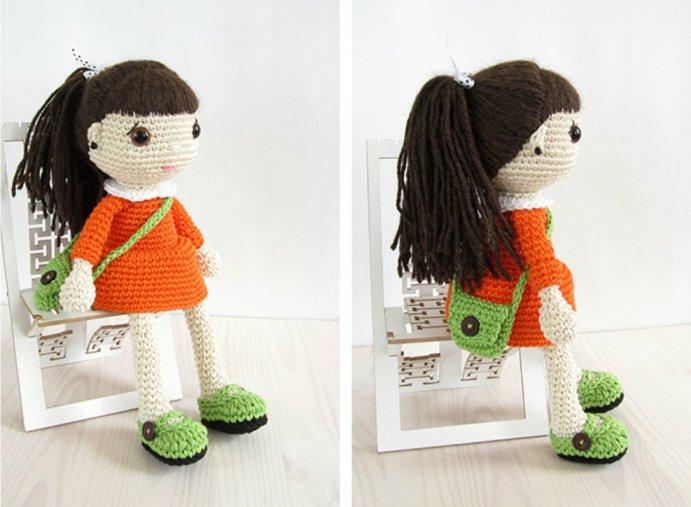 платье для куклы крючком схема описание
