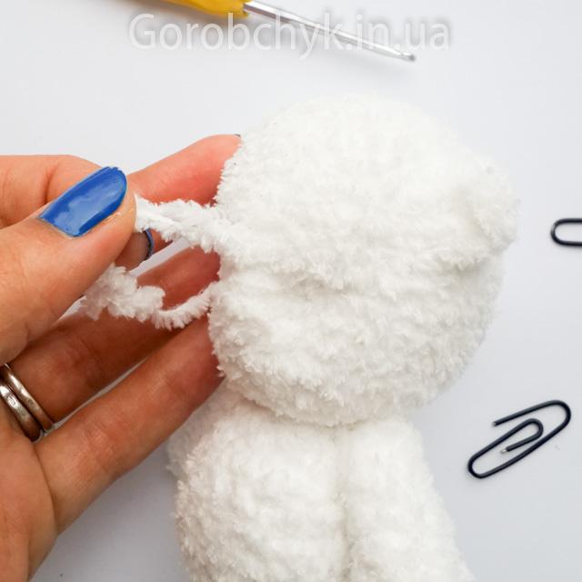 Схема вязания зайца крючком из плюшевой пряжи амигуруми 21