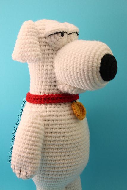 собака брайан гриффин крючком схема вязания