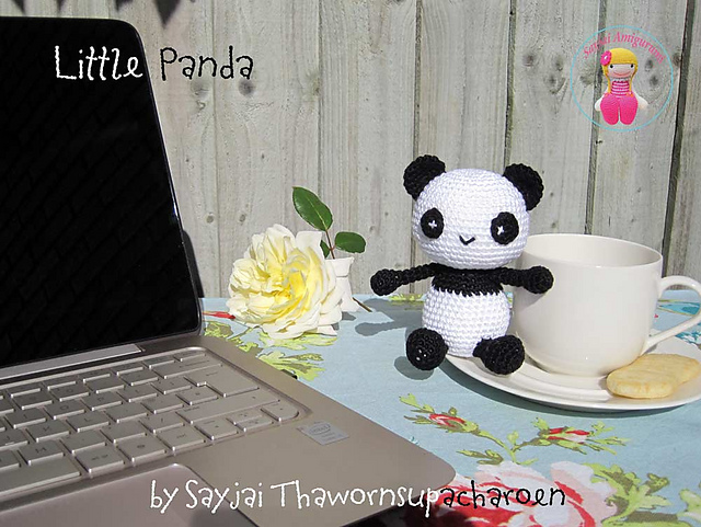 схема вязания панды амигуруми крючком