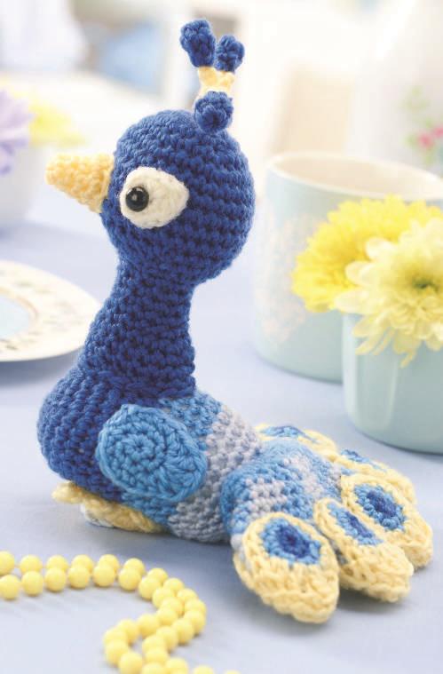 вязаный крючком павлин схема вязания игрушки