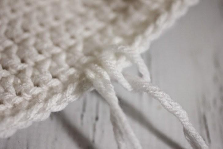 делаем косу для вязаной шапочки