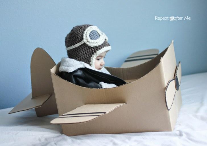 детская шапка авиатор крючком схема