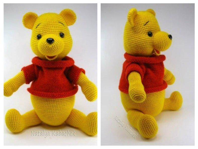 игрушка крючком амигуруми медвежонок винни пух схема