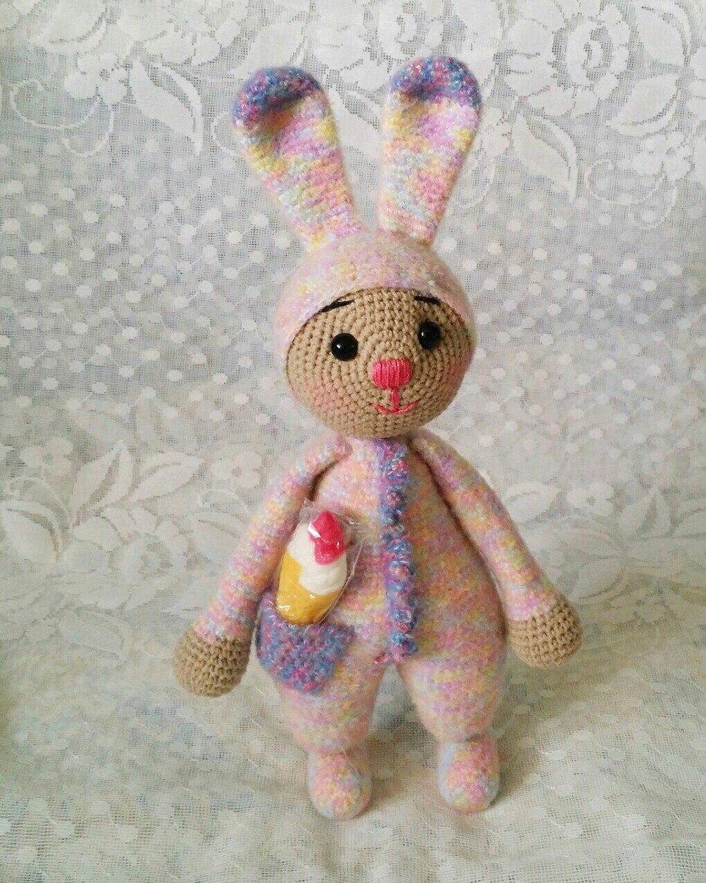мастер класс по амигуруми заяц в пижаме крючком