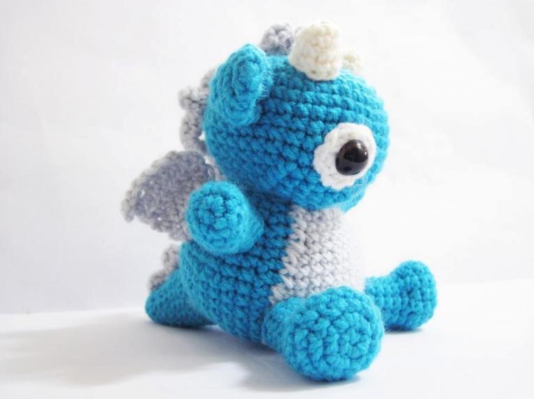 игрушки амигуруми крючком кавайный дракон