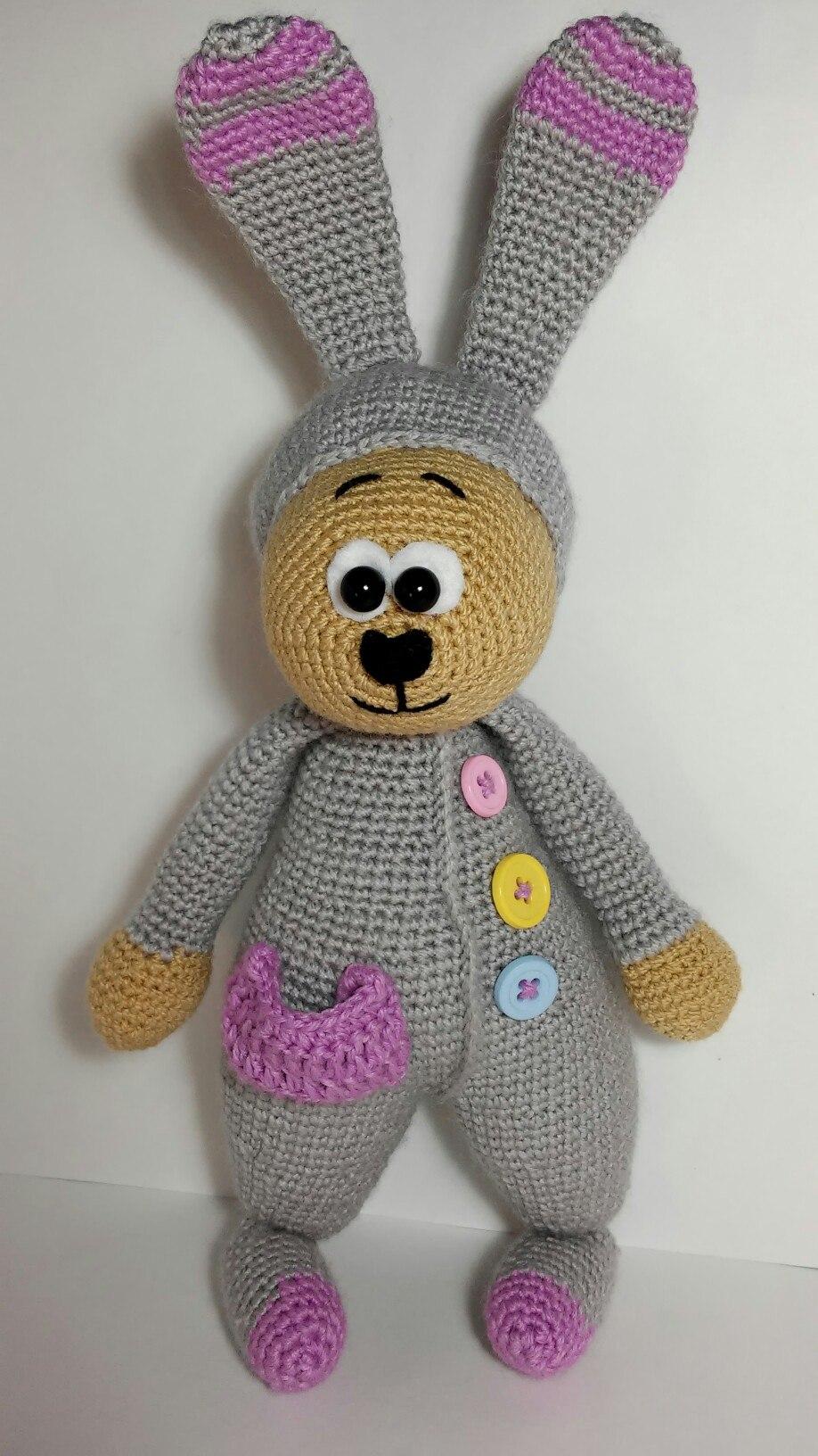 игрушки крючком схема зайца амигуруми