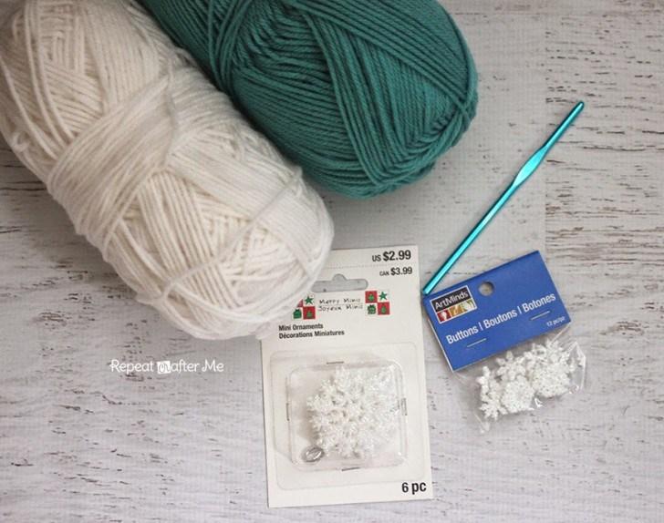 материалы для вязаной крючком шапочки для девочки