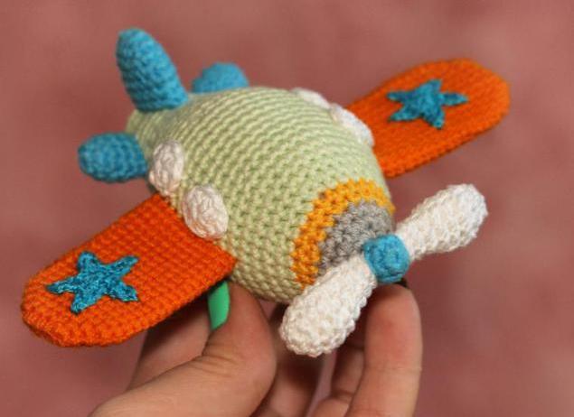 самолет амигуруми вязание крючком схема