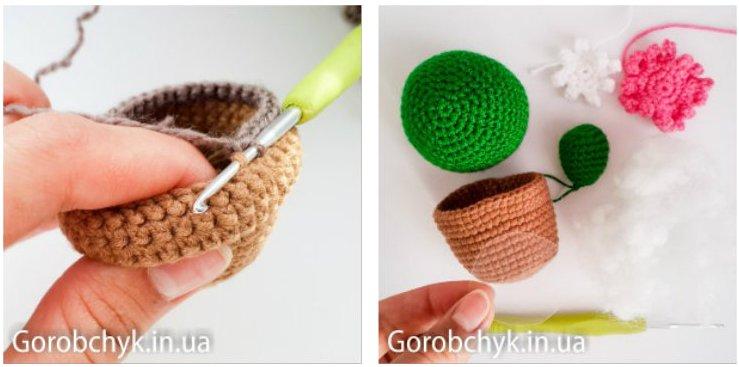 Схема вязание игольницы крючком