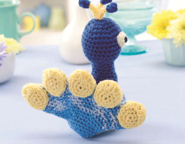 схема вязания игрушки павлина крючком