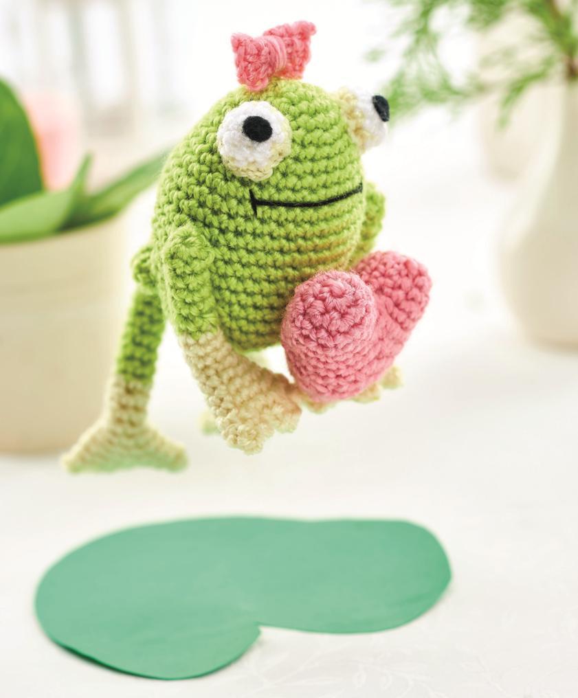 амигуруми лягушка Эсмеральда схема вязания игрушки крючком