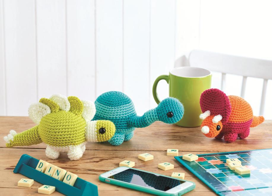 вязаные игрушки динозавры крючком схемы