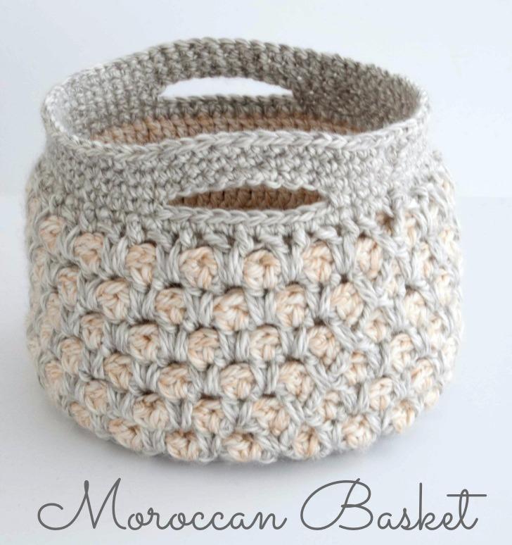 марокканская корзинка крючком схема вязания