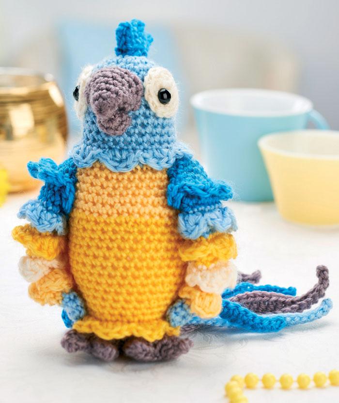 Амигуруми попугай Диего схема игрушки крючком