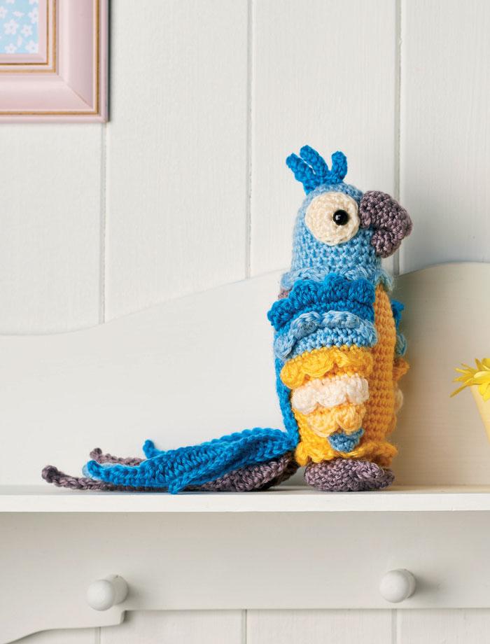 Амигуруми попугай крючком схема вязания