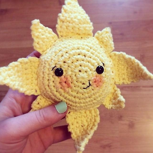 Вязание игрушек солнце амигуруми