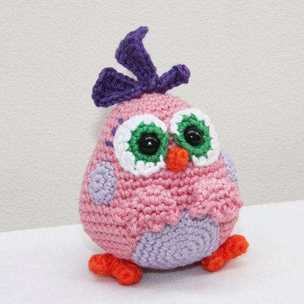 Вязание игрушек angry birds крючком