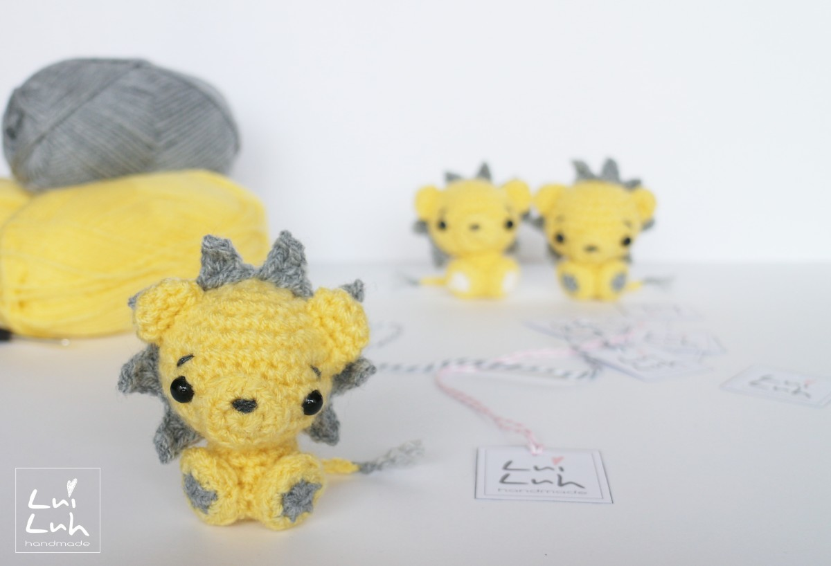 схема вязания игрушки-лев