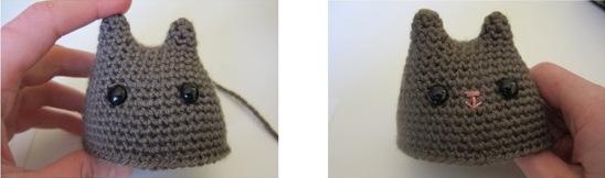 Котенок связанный крючком описание