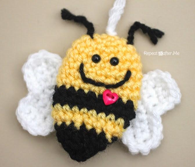 Пчела связанная крючком амигуруми описание