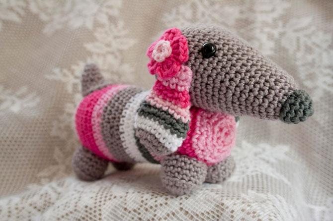 Вязание игрушек крючком собака амигуруми