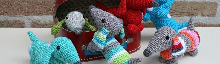 Вязание игрушек собака крючком для начинающих