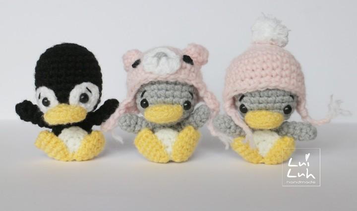 малыш пингвин амигуруми крючком схема