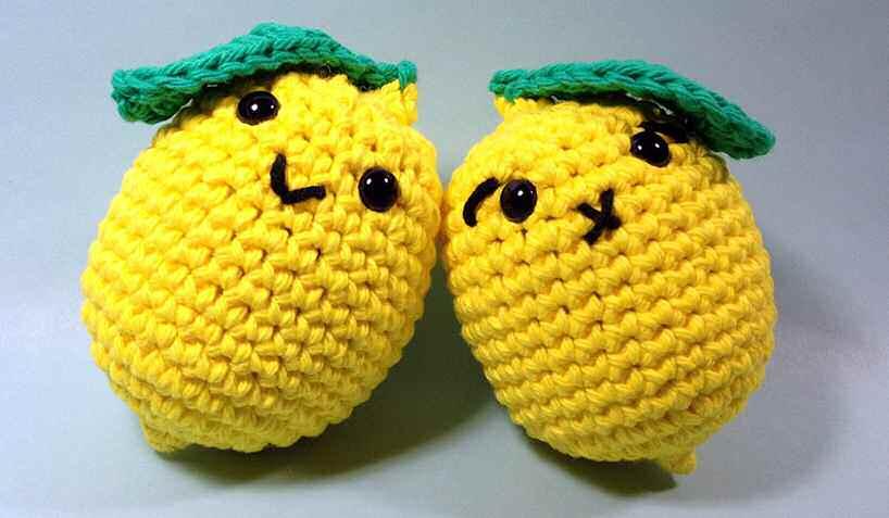 Лимон амигуруми крючком схема описание